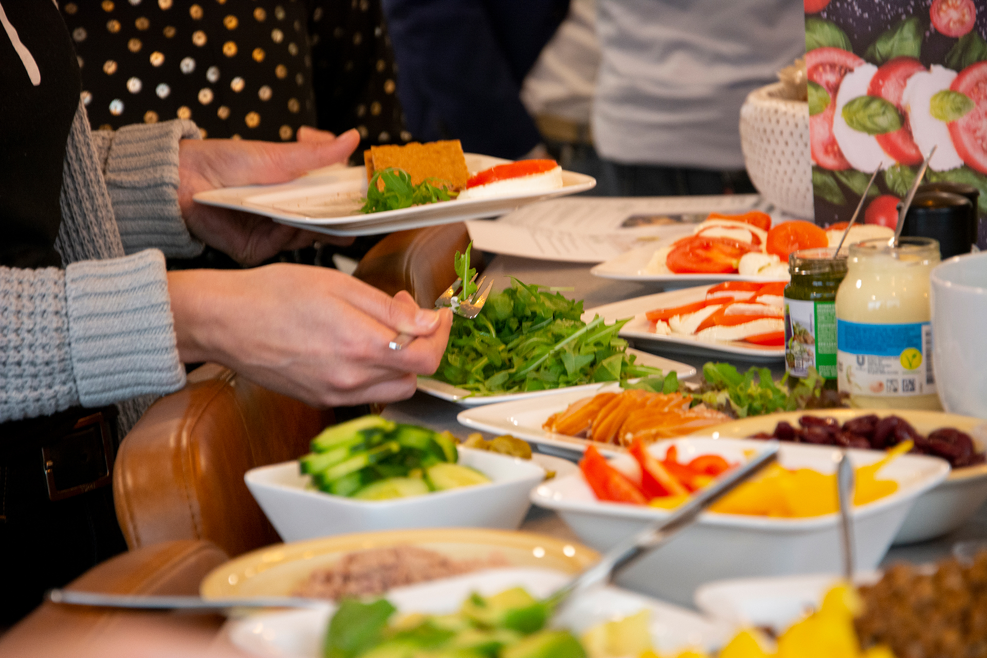 Lunch bij Circle Software, na speciaal advies van voedingscoach Mieke Daemen
